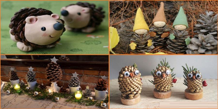 Pigne lavoretti per bambini butterfly creazioni artigianali - Decorazioni natalizie con le pigne ...